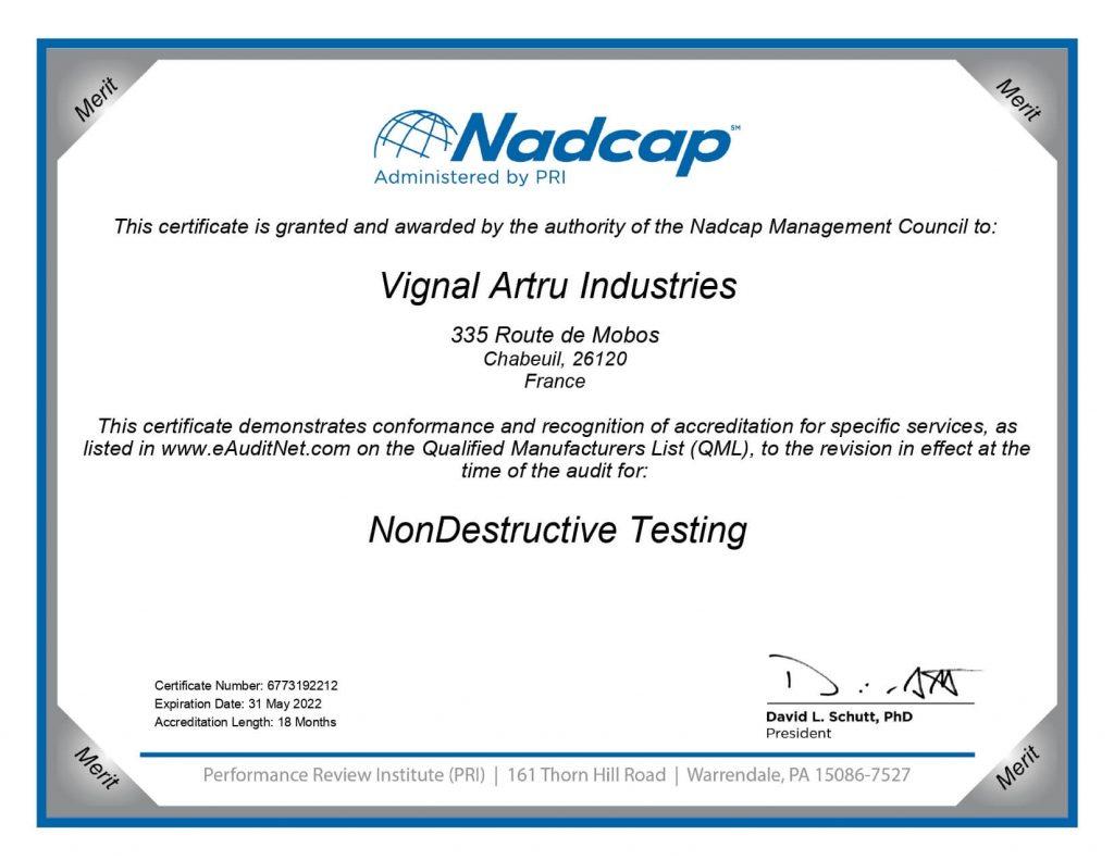 Certificate-Nadcap-Aerospace